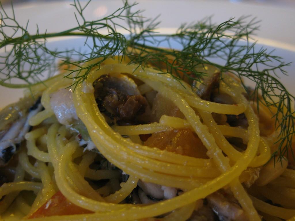 Gluten Free Spaghetti with Fresh Sardines